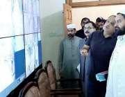 لاہور : صوبائی وزیر اوقاف سید سعید الحسن شاہ کوڈ پٹی کمشنر شاہد زمان ..
