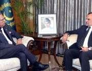 اسلام آباد: وفاقی وزیر برائے پارلیمانی امور سینیٹر محمد اعظم خان سواتی ..