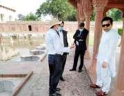لا ہور: مشیر وزیر اعلی پنجاب برائے سیاحت آصف محمود شالامار باغ کا دورہ ..