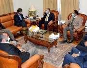 کوئٹہ، گورنر بلوچستان امان اللہ خان یسین زئی سے مارٹن ڈومارکر لمیٹڈ ..