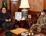 کراچی، گورنر سندھ عمران اسماعیل سے ڈائریکٹر جنرل پاکستان کوسٹ گارڈز ..