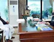 اسلام آباد، صدر عارف علوی سے وزیراعظم کے مشیر برائے ہم آہنگی حافظ طاہر ..