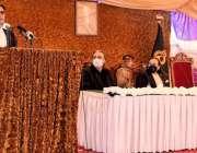 گلگت، وزیراعظم عمران خان گلگت بلتستان کابینہ کے ارکان کی حلف برداری ..