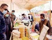 لاہور، ڈپٹی کمشنر لاہور مدثر ریاض ملک سہولت بازار برکت مارکیٹ میں انتظامات ..