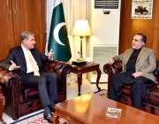 اسلام آباد: وفاقی وزیر برائے امور خارجہ مخدوم شاہ محمود قریشی گورنر ..