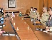 راولپنڈی، آرمی چیف جنرل قمر جاوید باجوہ سے امریکی خصوصی نمائندہ برائے ..