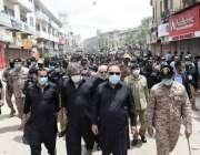 کراچی: گورنرسندھ عمران اسماعیل یوم عاشورہ کے موقع پر مرکزی جلوس کی ..