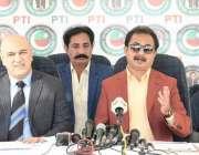 کراچی، تحریک انصاف کے مرکزی رہنما حلیم عادل شیخ جنید لاکھانی سیکرٹریٹ ..