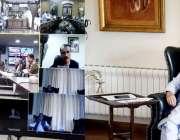 لا ہور: سینئر وزير عبدالعلیم خان نیشنل کمانڈ اینڈ آپریشنل سینٹر کے ..