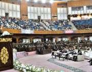 اسلام آباد: گورنر پنجاب چوہدری محمد سرور کنونشن سنٹر میں ایچ آئی ٹی ..