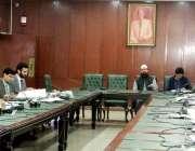 لاہور : صوبائی وزیرقانون راجہ بشارت سول سیکرٹریٹ میں کابینہ کمیٹی برائے ..
