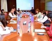 اسلام آباد: وزیر خارجہ شا محمود قر یشی وزارت خارجہ میں ڈیجیٹل ڈپلومیسی ..