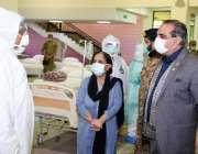 کراچی، گورنر سندھ عمران اسماعیل کو ایکسپو سینٹر میں 1200 بستروں پر مشتمل ..