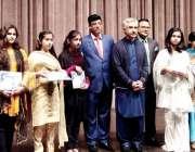 لاہور : صوبائی وزیر صنعت و تجارت میاں اسلم اقبال کا نجی سکول کی تقریب ..