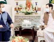 لاہور: وزیراعلی پنجاب سردار عثمان بزدار سے وزیراعلی آفس میں سپیکر پنجاب ..