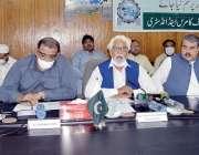 پشاور : چیمبر آف کامرس اینڈ انڈسٹری کے صدر انجینئر مقصود انور پرویز ..