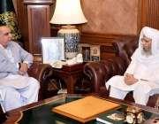کراچی، گورنر سندھ عمران اسماعیل سے سرپرست اعلی جامعتہ الرشید مفتی ..