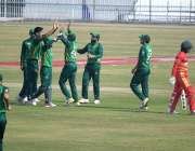 راولپنڈی، راولپنڈی کرکٹ سٹیڈیم میں پاکستان اور زمبابوے کے درمیان جاری ..