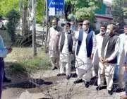 اسلام آباد : مسلم لیگ ن کے رہنما نجم عقیل خان اور چئیرمین یونین کونسل ..