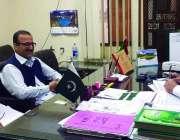 پشاور صوبائی وزیرصحت و ثقافت شوکت یوسفزائی ڈائریکٹریٹ آف لیبر کے زیراہتمام ..