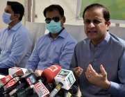 کراچی، سندھ حکومت کے ترجمان بیرسٹر مرتضی وہاب وائی ایم سی اے گرائونڈ ..