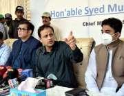 کراچی: سندھ حکومت کے ترجمان مشیر قانون ، ماحولیات وساحلی تر قی پیرسٹر ..