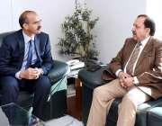 اسلام آباد: وفاقی سیکرٹری اطلاعات و نشریات اکبر حسین درانی نے پی آئی ..