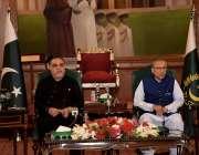 کراچی : صدرمملکت ڈاکٹر عارف علوی اور گورنر سندھ عمران اسماعیل کاروباری ..