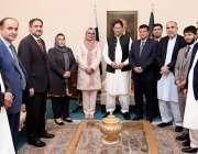 اسلام آباد، وزیراعظم عمران خان سے افغان پارلیمنٹ کے سپیکر رحمان رحمانی ..