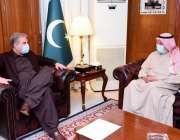 اسلام آباد، وزیر خارجہ شاہ محمود قریشی سے کویت کے سفیر ناصر عبداللہ ..