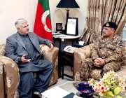پشاور: وزیراعلیٰ خیبرپختونخوا محمود خان نے کور کمانڈر پشاور لیفٹیننٹ ..
