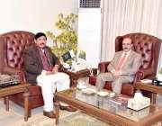 مظفرآباد: وزیر اعظم آزد جموں کشمیر کے معاون خصوصی محمد راجہ امداد علی ..