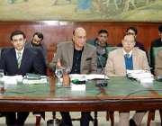 لاہور : صوبائی وزیرقانون راجہ بشارت سول سیکرٹریٹ میں اجلاس کی صدارت ..