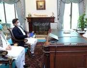 اسلام آباد، وزیراعظم عمران خان سے سینیٹر فیصل جاوید خان اور سینیٹر ..
