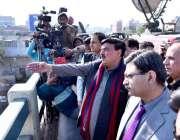 کراچی: وفاقی وزیر ریلوے ، شیخ رشید احمد کالا پل میں کے سی آر ٹریک کا ..