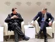 ڈیوس: وزیر اعظم عمران خان ڈبلیو ای ایف کانگریس سنٹر میں پاکستان کنٹری ..