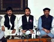 کوئٹہ، چئیرمین پارلیمانی کمیٹی برائے کشمیر شہریار آفریدی پریس کانفرنس ..