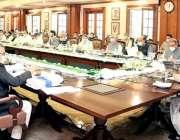 لاہور: وزیراعلی پنجاب سردار عثمان بزدا صوبائی کابینہ کے 34ویں اجلاس ..