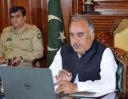 پشاور، گورنر خیبرپختونخوا شاہ فرمان کورونا وائرس سے متعلق گورنرز کانفرنس ..