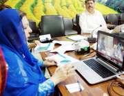 لاہور: صوبائی وزیر صحت ڈاکٹر یاسمین راشد محکمہ پرائمری اینڈ سکینڈری ..