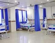 لاہور، سمز آڈیٹوریم میں کورونا وائرس کے مریضوں کیلئے مختص کیا گیا آئی ..