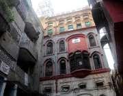 راولپنڈی: بھابرا بازار میں قدیم عمارتوں کا نظارہ۔