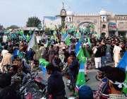 بہاولپور: فرید گیٹ پر یوم یکجہتی کشمیر کے موقع پر ریلی میں مختلف شعبہ ..