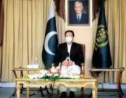 اسلام آباد، وزیراعظم عمران خان پریس کانفرنس سے خطاب کر رہے ہیں۔