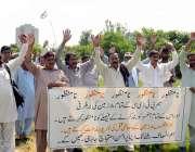 اسلام آباد: پی ٹی ڈی سی کے ملازمین برطرفی کیخلاف پریس کلب کے سامنے احتجاجی ..