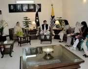 اسلام آباد: وزیراعظم آزاد کشمیر راجہ فاروق حیدر خان سے پارلیمانی سیکرٹری ..
