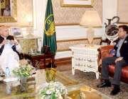 لاہور: گورنر پنجاب چوہدری محمد سرور سے صوبائی وزیراقلیتی امور اعجاز ..