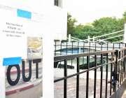 اسلام آباد: پاکستان میڈیکل اینڈ ڈینٹل کونسل کی عمارت پر عارضی طور پر ..
