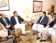 لاہور: سپیکر پنجاب اسمبلی چوہدری پرویز الہی سے ملاقات میں سابق چیئر ..