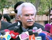 راولپنڈی: وزیر اعظم کے معاون خصوصی برائے صحت ڈاکٹر ظفر مرزا میڈیا سے ..